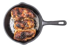 Roasted chicken pieces Royalty Free Stock Photography