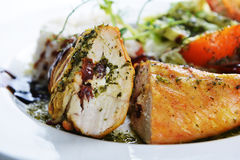 Roasted chicken and  rice Royalty Free Stock Photo