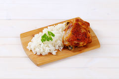 Roasted chicken with rice Stock Photos