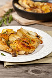 Roasted chicken with Rosemary Royalty Free Stock Image