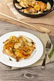 Roasted chicken with Rosemary Stock Photos