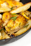 Roasted chicken with Rosemary Stock Images