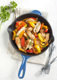 Roasted chicken with sweet peppers Royalty Free Stock Images