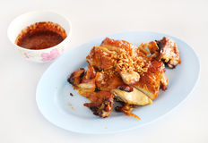 Roasted chicken thai style Royalty Free Stock Photo
