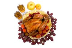 Roasted chicken or turkey Royalty Free Stock Photography