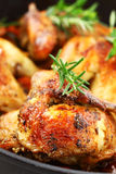 Roasted chicken with vegetable Royalty Free Stock Photos