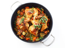 Roasted chicken with vegetable Stock Photography