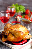 Roasted chicken Stock Photography