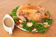 Roasted Chicken with Vegetables Royalty Free Stock Images