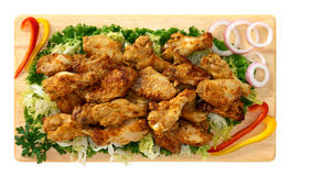 Roasted chicken wings Stock Images