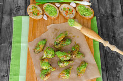 Roasted chicken wings with Chimichurri Royalty Free Stock Images