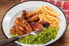 Roasted chicken. Royalty Free Stock Image