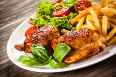 Roasted chicken wings Royalty Free Stock Images