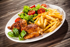 Roasted chicken wings Royalty Free Stock Photography