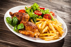 Roasted chicken wings Royalty Free Stock Photos