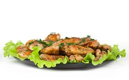 Roasted chicken wings Stock Photos