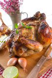 Roasted chickens Stock Image
