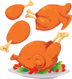 Roasted Chickens Stock Photos