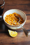 Roasted chickpea with hot chili flakes Royalty Free Stock Photography