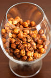 Roasted chickpeas in glass Stock Photo