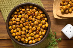 Roasted Chickpeas with Herbs Royalty Free Stock Photo
