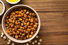 Roasted Chickpeas with Sesame and Honey Stock Photo