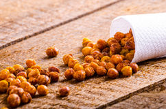Roasted chickpeas spiced Royalty Free Stock Photography