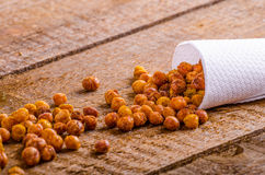 Roasted chickpeas spiced Stock Images