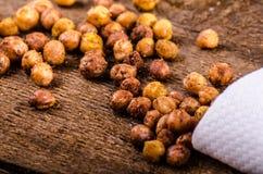 Roasted chickpeas spiced Stock Photos