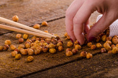 Roasted chickpeas spiced Royalty Free Stock Image