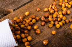 Roasted chickpeas spiced Royalty Free Stock Photo