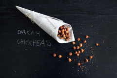 Free Roasted Chickpeas With Egyptian Dukkah Spice Royalty Free Stock Images - 51637899