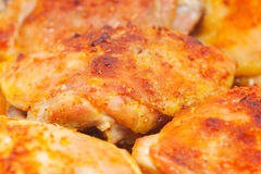 Roasted chiken thighs Royalty Free Stock Images