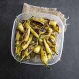 roasted chili peppers Stock Images