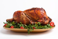 Roasted christmas turkey Royalty Free Stock Images