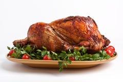 Roasted christmas turkey Royalty Free Stock Images