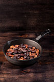 Roasted cocoa chocolate beans Stock Photography