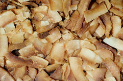 Roasted coconut shavings Royalty Free Stock Image