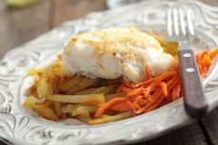 Roasted cod with vegetables Stock Images