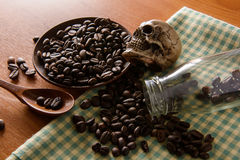 Roasted coffee. Aroma cappuccino mocca Stock Photography
