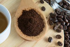 Roasted coffee. Aroma cappuccino mocca Royalty Free Stock Image