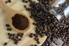 Roasted coffee. Aroma cappuccino mocca Stock Photos