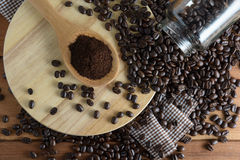 Roasted coffee. Aroma cappuccino mocca Royalty Free Stock Photography