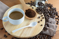 Roasted coffee. Aroma cappuccino mocca Royalty Free Stock Photos