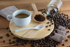Roasted coffee. Aroma cappuccino mocca Stock Image