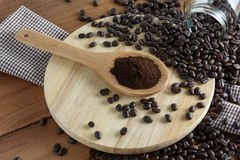 Roasted coffee. Aroma cappuccino mocca Royalty Free Stock Photo