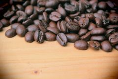 Roasted coffee backgound Stock Photography