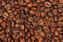Roasted coffee background Royalty Free Stock Photos