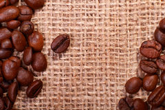 Roasted coffee bean background Stock Images