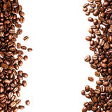 Roasted Coffee Bean background isolated on white background. Clo Royalty Free Stock Photos